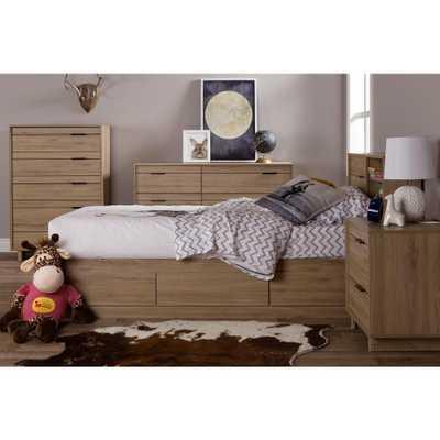 Fynn 6-Drawer Rustic Oak Dresser - Home Depot