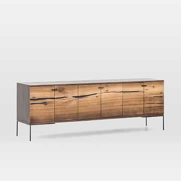 Natural Wood Media Console - West Elm