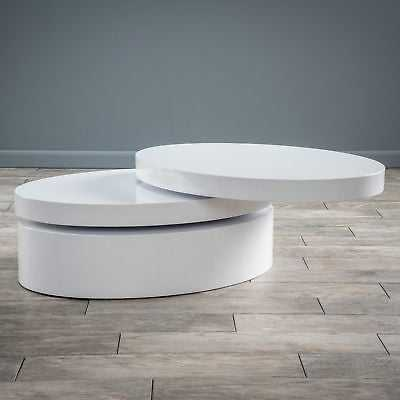 Small Oval Mod Rotatable Coffee Table by Christopher Knight Home - eBay