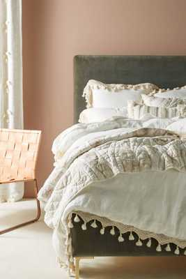 Tasseled Linen Duvet Cover - Anthropologie