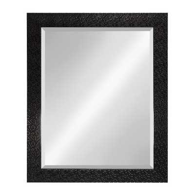 Coolidge Rectangle Black Mirror - Home Depot