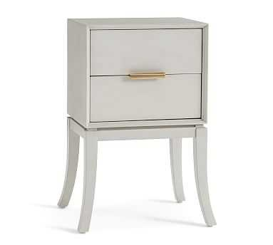 Leah Polished Nightstand, Dusk Gray - Pottery Barn