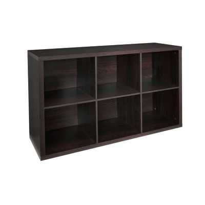 30 in. W x 44 in. H Decorative Black Walnut 6-Cube Organizer - Home Depot