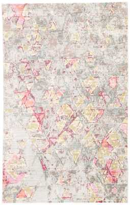 Ixion Abstract Beige/ Pink Area Rug (5' X 8') - Collective Weavers