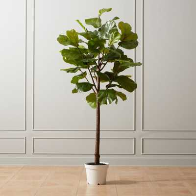 "Faux Potted 84"" Fiddle Leaf Fig - CB2"