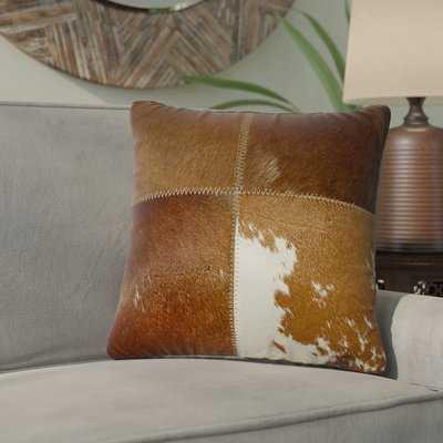 Graham Leather Throw Pillow - Wayfair