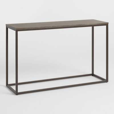 Graywash Wood and Metal Keenan Console Table by World Market - World Market/Cost Plus