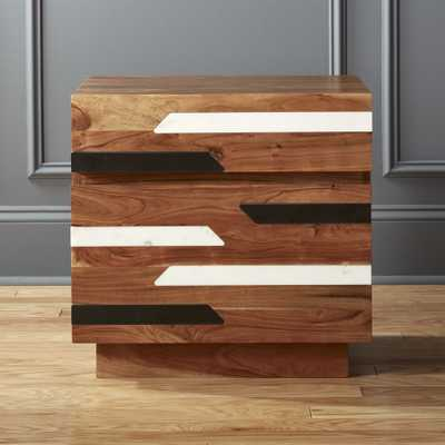 Edie Marble Inlay Nightstand - CB2
