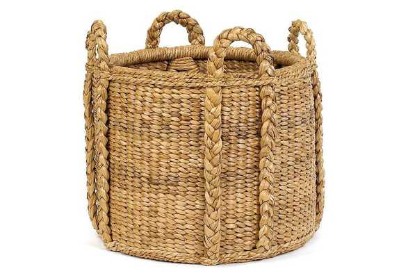 Sweater-Weave Handled Basket - One Kings Lane