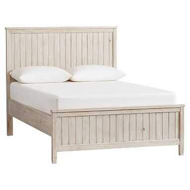 Beadboard Basic Bed, Full, Weathered White - Pottery Barn Teen