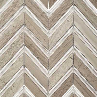 Splashback Tile Royal Herringbone Sand 10-1/2 in. x 12 in. x 10 mm Polished Marble Mosaic Tile, Beige/Polished - Home Depot