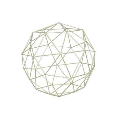 7.25 in. x 7.25 in. Irregular Champagne Gold Metal Orb, Metallics - Home Depot
