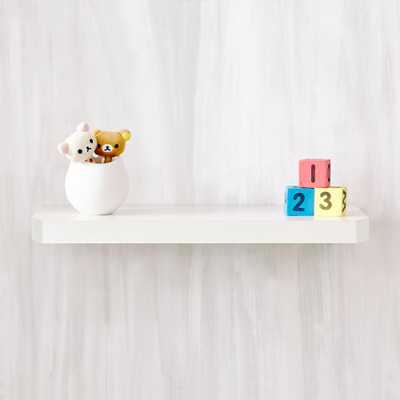 Uniq 23.6 in. W x 1.6 in. D Pearl White zBoard Floating Wall Shelf and Decorative Shelf - Home Depot