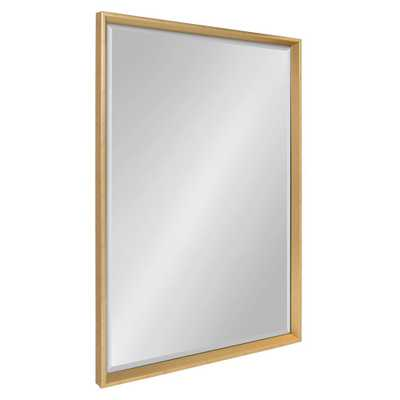 Calter Rectangle Gold Wall Mirror - Home Depot