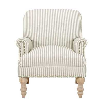 Joy Beige Upholstered Accent Chair - Home Depot
