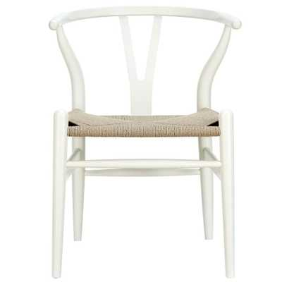 Amish White Dining Wood Armchair - Home Depot