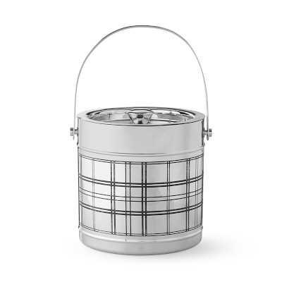 Tartan Etched Silver Ice Bucket - Williams Sonoma