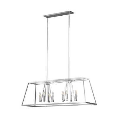 Feiss Conant 8-Light Chrome Chandelier - Home Depot