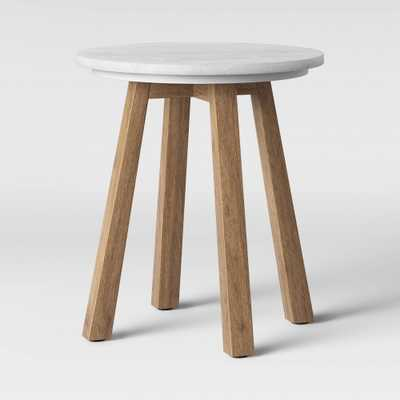 Norwich Marble Top Accent Table with Wood Base White - Threshold - Target