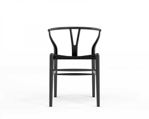 Wishbone Chair - Ebony Black Seat Cord - Rove Concepts