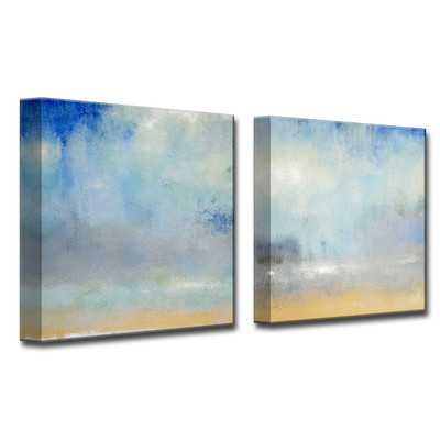 'Coastal Downpour' 2 Piece Painting Print on Wrapped Canvas Set - Wayfair