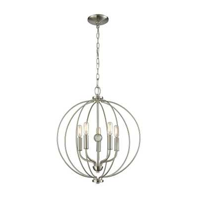 Thomas Lighting Williamsport 5-Light Brushed Nickel Chandelier - Home Depot
