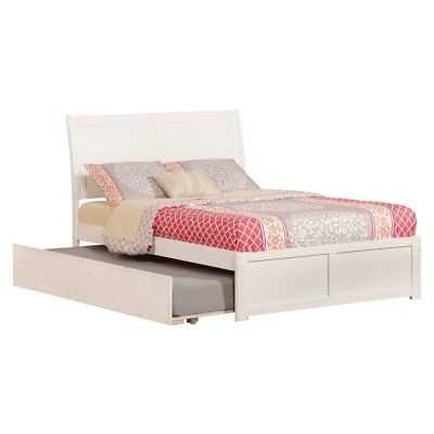 Atlantic 'Portland' White Wood Panel Full-size Bed with Trundle Bed - eBay