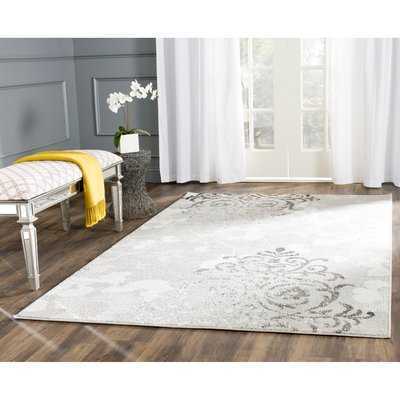 Frizzell Silver/Ivory Area Rug - 8'x10' - Wayfair