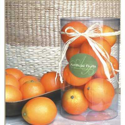 Reimer Container of Decorative Oranges Vase Fillers - Wayfair