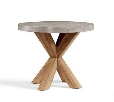 """Abbott Concrete Bistro Table, 36"""" - Pottery Barn"""