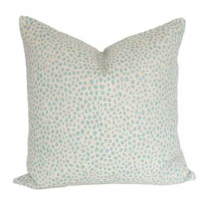 Dotted Aquamarine - 17x17 pillow cover - Arianna Belle