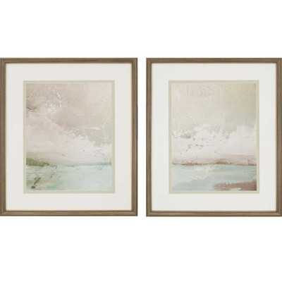 'Eastern Shore' 2 Piece Framed Painting Print Set - Birch Lane
