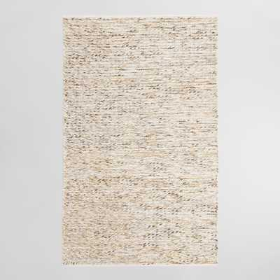 Ivory Chunky Sweater Style Harbin Indoor Outdoor Patio Rug - World Market/Cost Plus