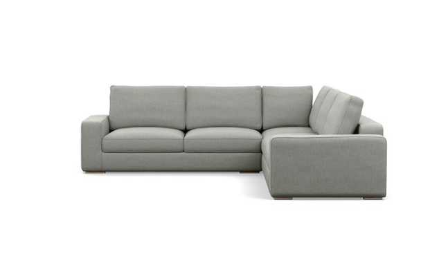 Ainsley Corner Sectional with Ecru Fabric and Natural Oak legs - Interior Define