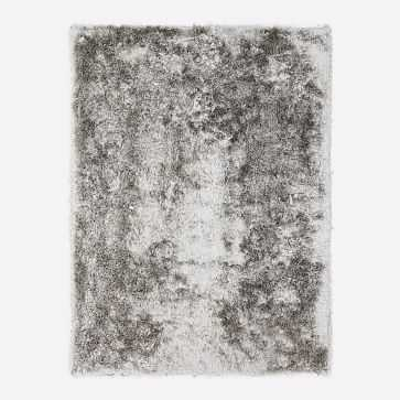 Glam Shag Rug, Platinum, 8'x10' - West Elm