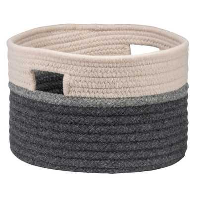 Sophia Wool Storage Basket, Gray/Natural - Home Depot