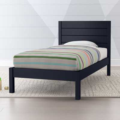 Parke Navy Blue Twin Bed - Crate and Barrel