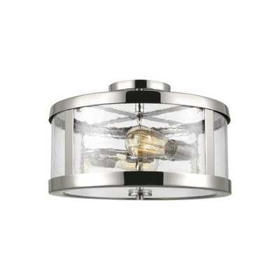 Feiss Harrow 2-Light Polished Nickel Semi-Flushmount - Home Depot
