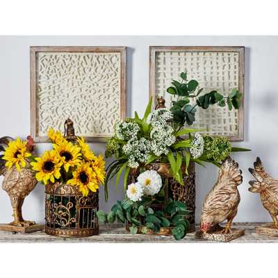 14 in. x 14 in. Weave Patterns Framed Wood Wall Art (Set of 2) - Home Depot