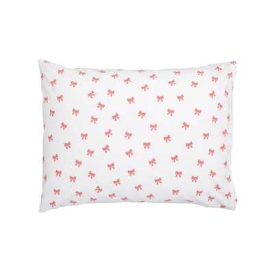 Pink Bow Pillowcase - Crate and Barrel