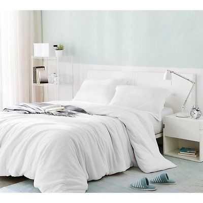 BYB Bare Bottom Duvet Cover - White: King - eBay