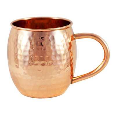 Copper Hammered Barrel Mug - Home Depot