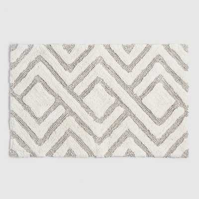Ivory and Taupe Tufted Diamond Bath Mat by World Market - World Market/Cost Plus
