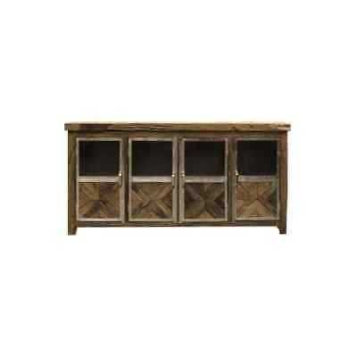 """Harp and Finial HFF2275 Ayers 80"""" Wide Four Door Wood Sideboard - eBay"""