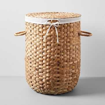 Round Weave Laundry Basket, Large, Natural - West Elm