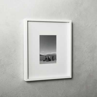 Gallery White Frame with White Mat 4x6 - CB2