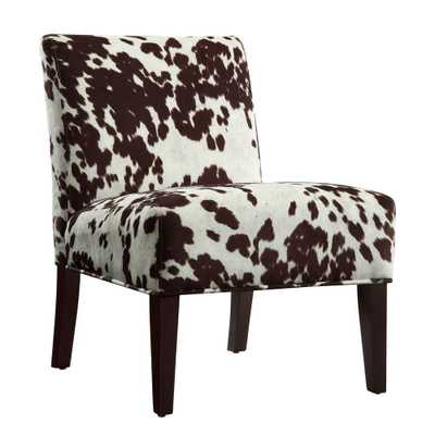 Cowhide Accent Chair, Brown - Home Depot
