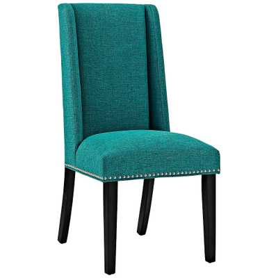 Baron Teal Fabric Dining Chair - Style # 33T55 - Lamps Plus