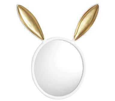 The Emily & Meritt Bunny Mirror White /Gold - Pottery Barn Kids