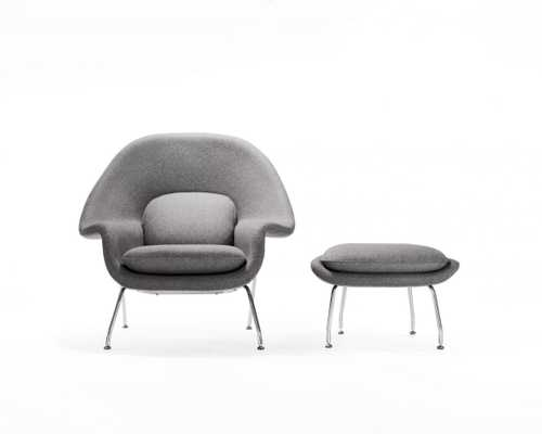 Womb Chair And Ottoman - Olive Tree - Rove Concepts